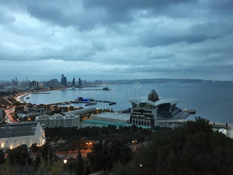 L'Azerbaïdjan Bakou Vieille ville Belles photos image stock