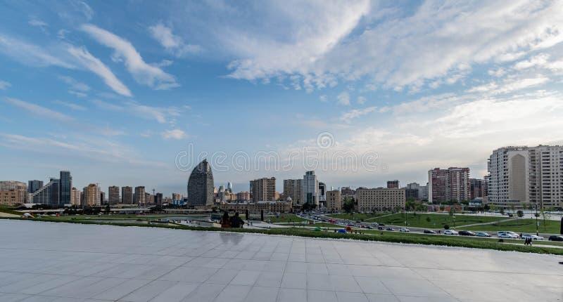 L'Azerbaïdjan Bakou, vue de centre d'aliyev de Heydar photos libres de droits
