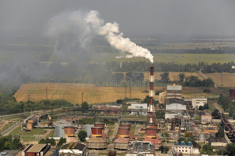L'azote chimique d'entreprise à Tcherkassy image stock