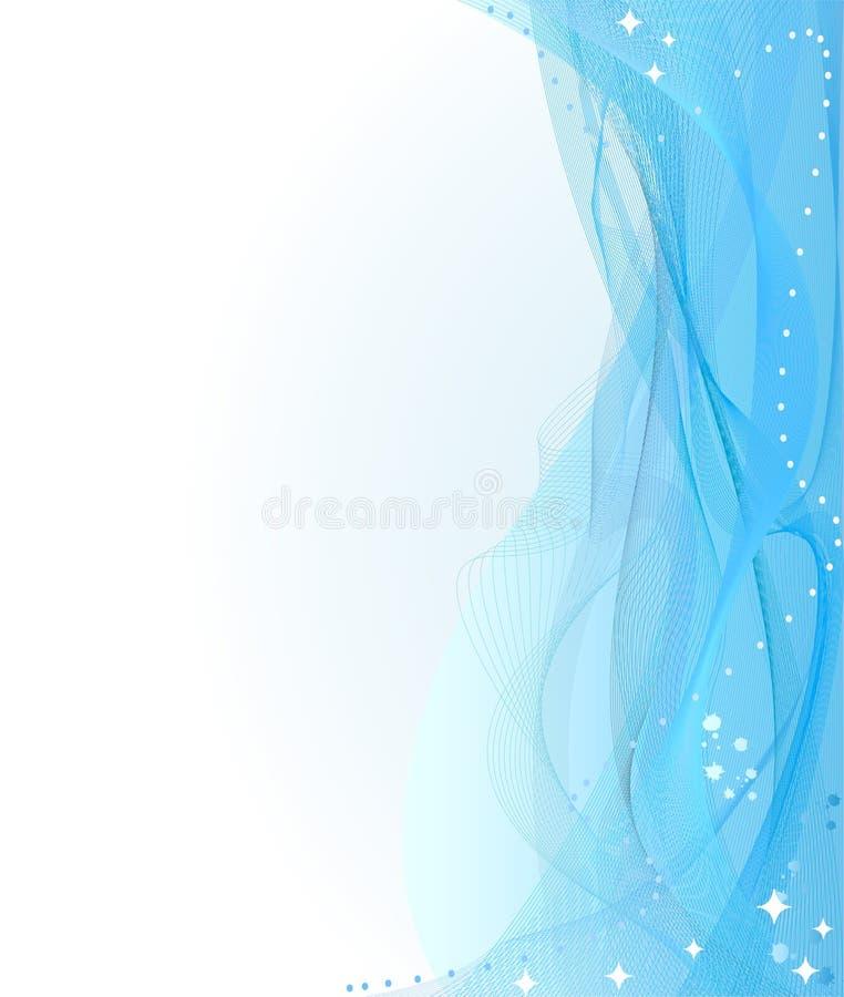 L'azzurro astratto curva la priorità bassa illustrazione vettoriale