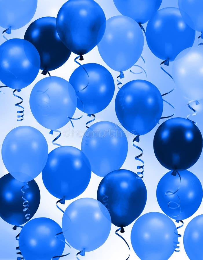L'azzurro del partito balloons la priorità bassa illustrazione vettoriale