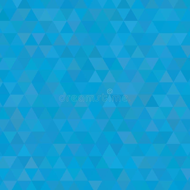L'azzurro protegge il quadrato del fondo dei triangoli illustrazione vettoriale