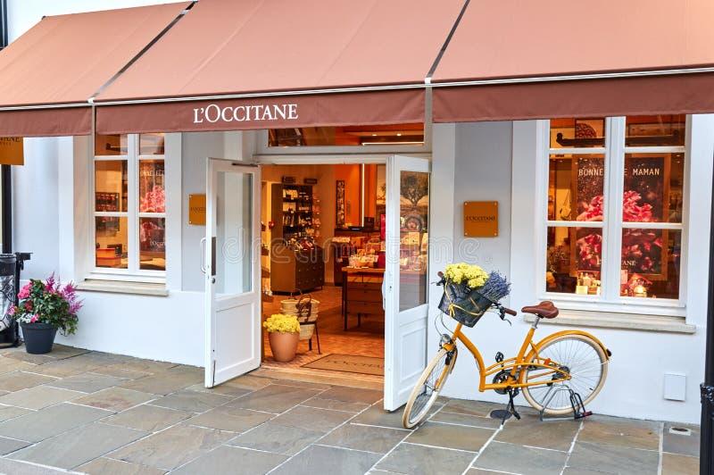 L' ; Boutique d'Occitane dans le village de Vallee de La image libre de droits
