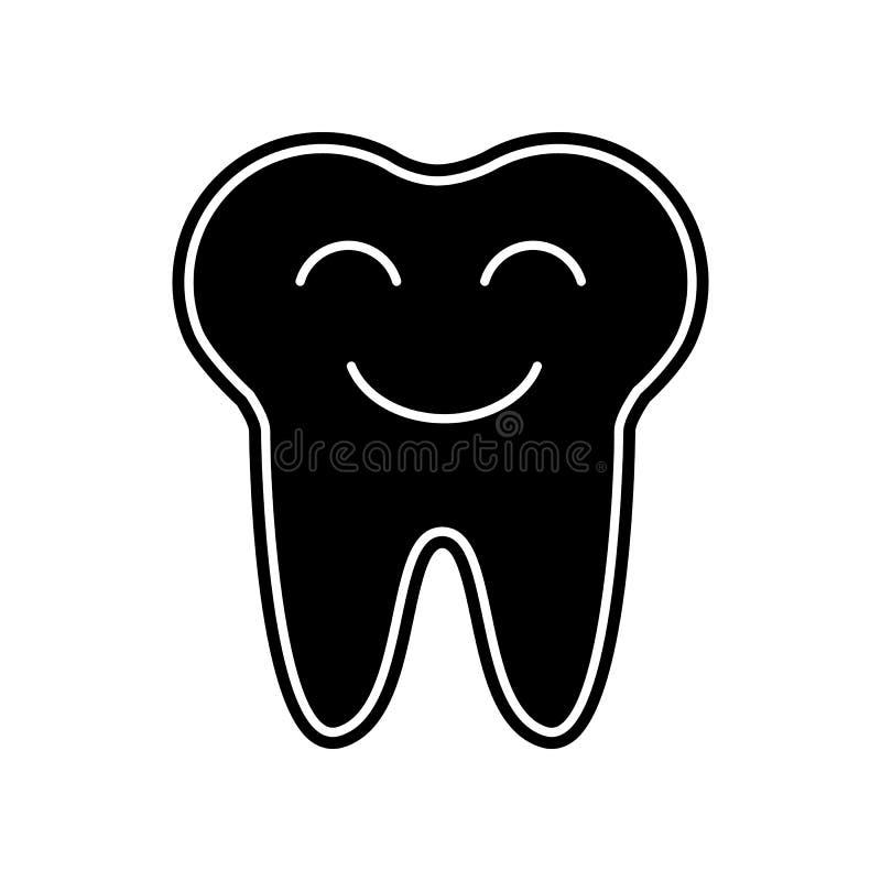 L?chelnde Zahnikone Element von Dantist f?r bewegliches Konzept und Netz Appsikone Glyph, flache Ikone f?r Websiteentwurf und Ent lizenzfreie abbildung