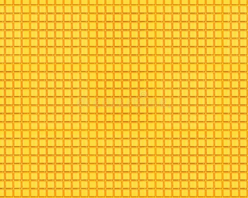 L'or couvre de tuiles la texture illustration stock