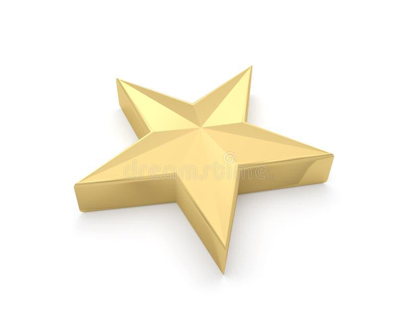 L'or d'étoile d'or jaunissent illustration de vecteur