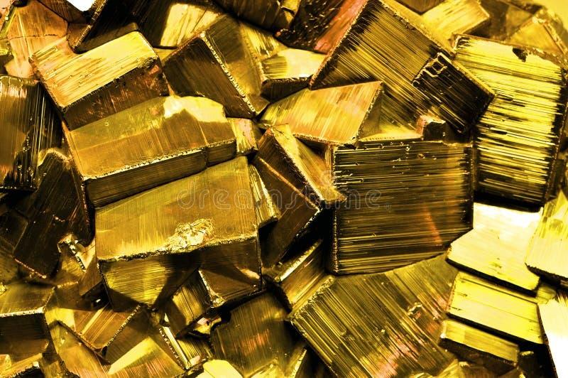L'or de l'imbécile de pyrite photographie stock