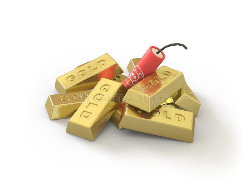 l'or de ramassage ici poussent illustration de vecteur