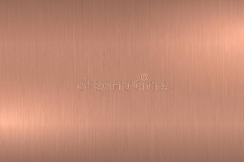 L'or de Rose a balayé la texture métallique Fond poli brillant en métal illustration de vecteur