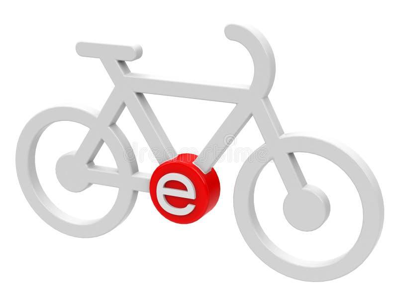 L'e-vélo illustration libre de droits