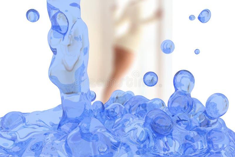 L'eau égouttée (jus ; sève) illustration de vecteur