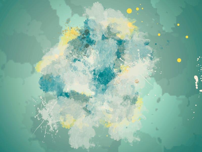 L'eau abstraite de fond éclaboussant l'ornement image stock