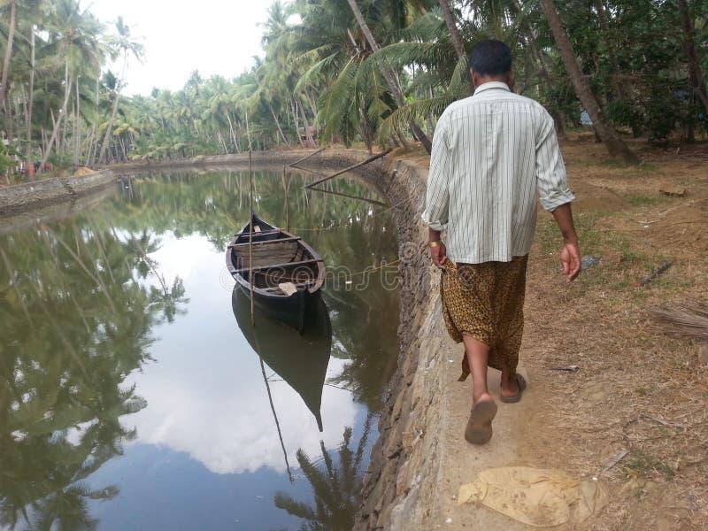 L'eau arrière du Kerala photo libre de droits