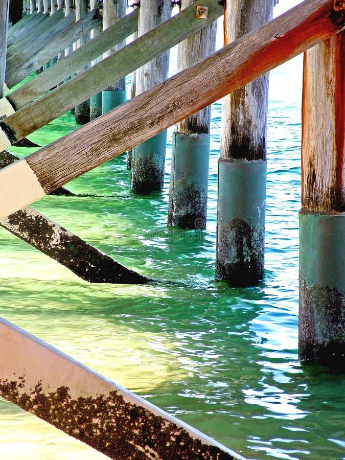 L'eau au pilier image libre de droits
