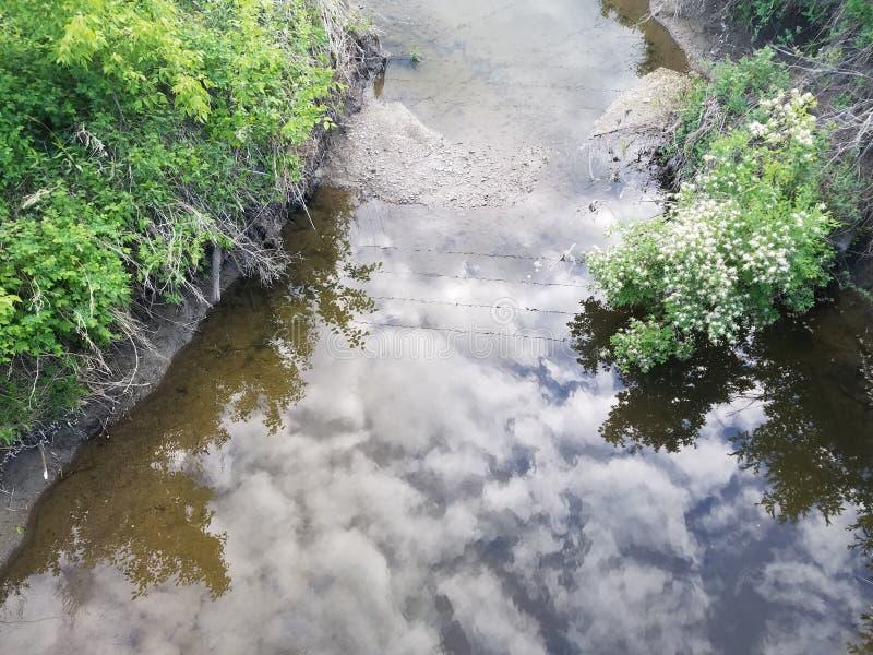 L'eau avec la réflexion photo stock