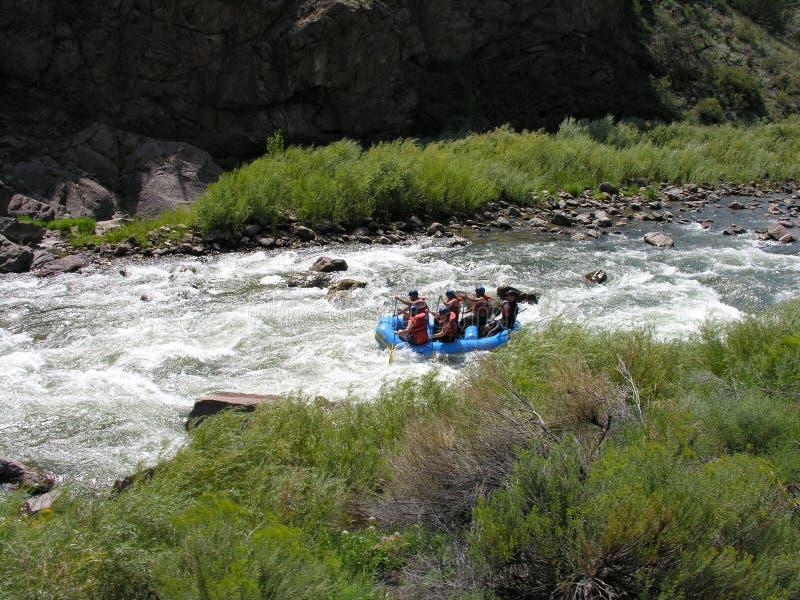 L'eau blanche transportant par radeau dans le Colorado. images stock