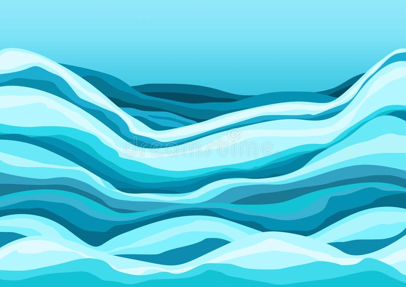 L'eau bleue à l'arrière-plan de conception de mer illustration libre de droits