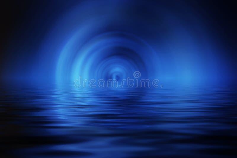 L'eau bleue illustration stock
