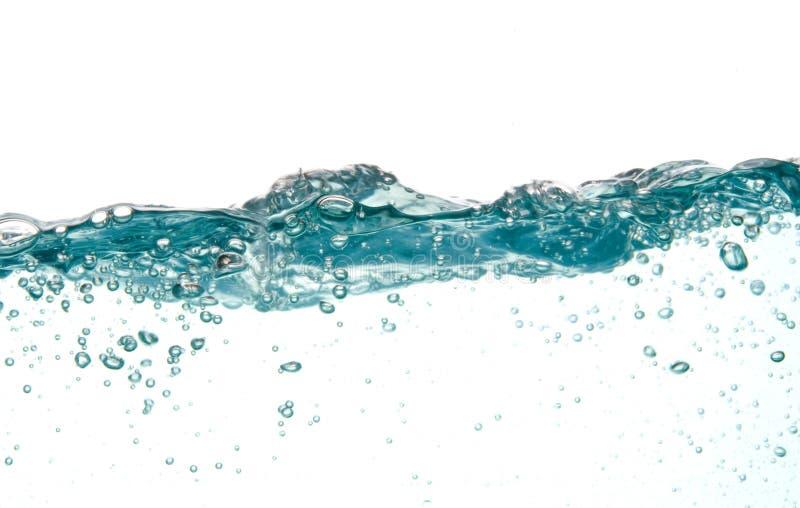 l'eau bleue de mouvement photographie stock libre de droits