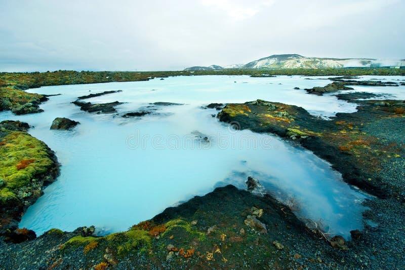 La lagune bleue en Islande images libres de droits