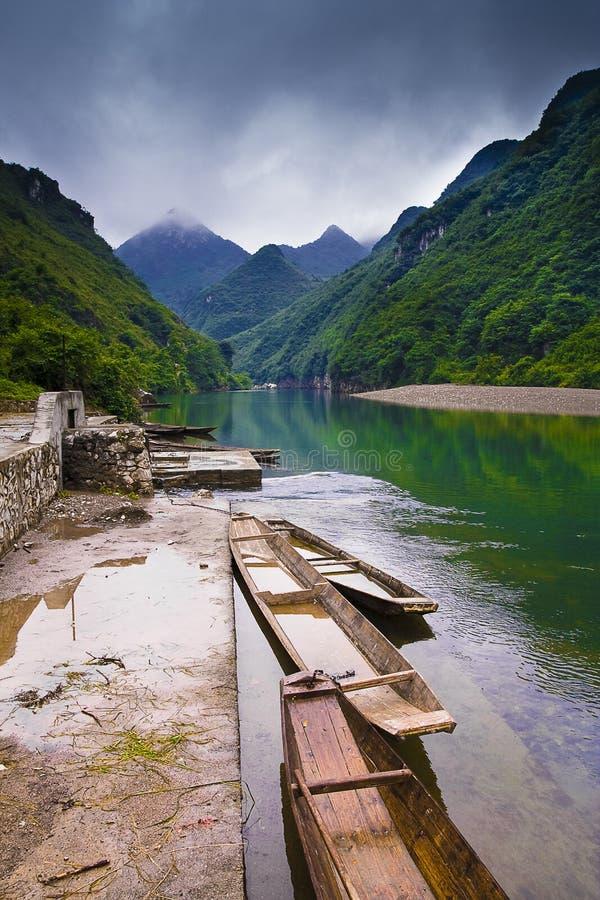 l'eau chinoise de village photo libre de droits