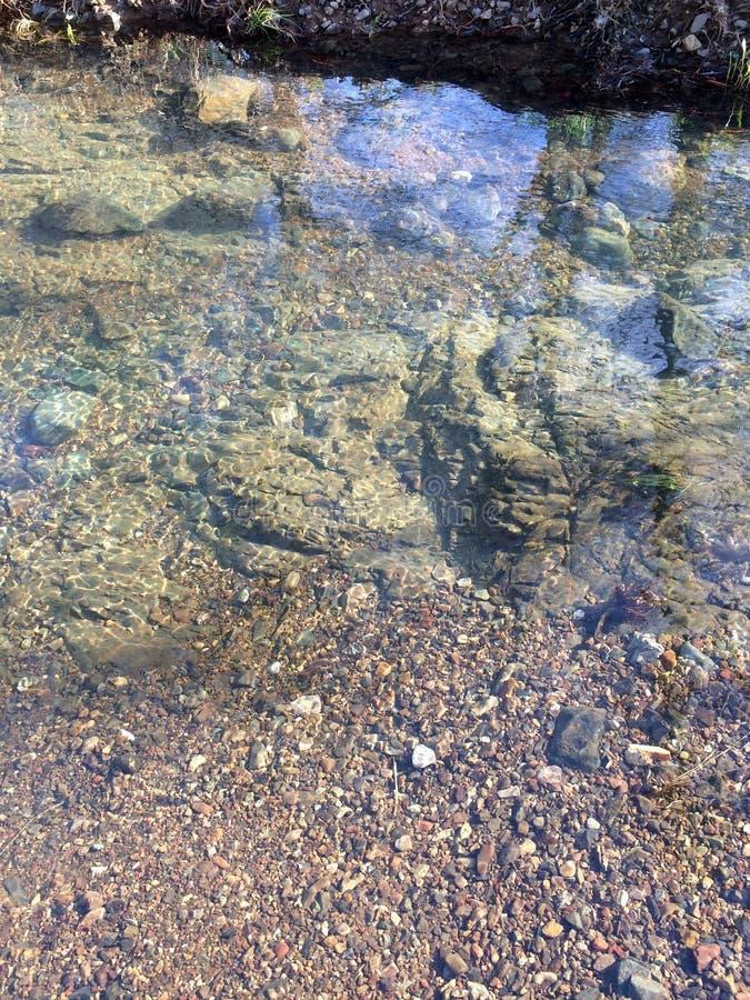 L'eau clair comme de l'eau de roche de crique photo libre de droits