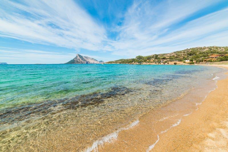 L'eau claire dans le rivage de Cavallo de coda de capo photographie stock libre de droits