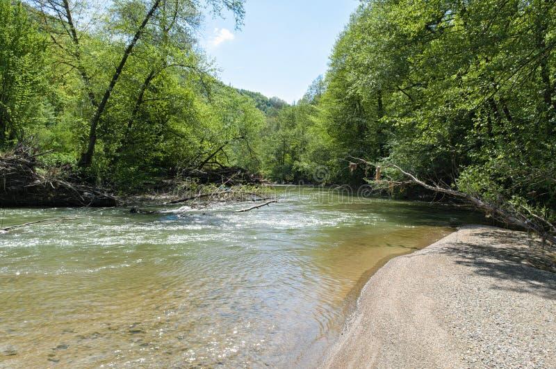 L'eau claire de la rivière de Vlasina photo libre de droits