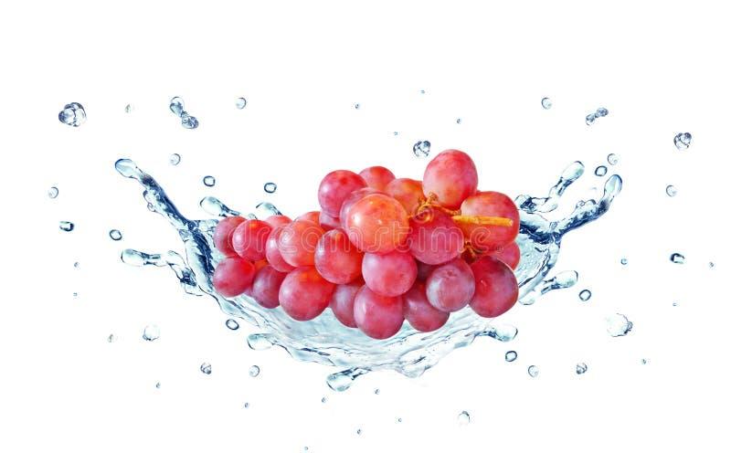 L'eau d'éclaboussure de raisin photographie stock libre de droits