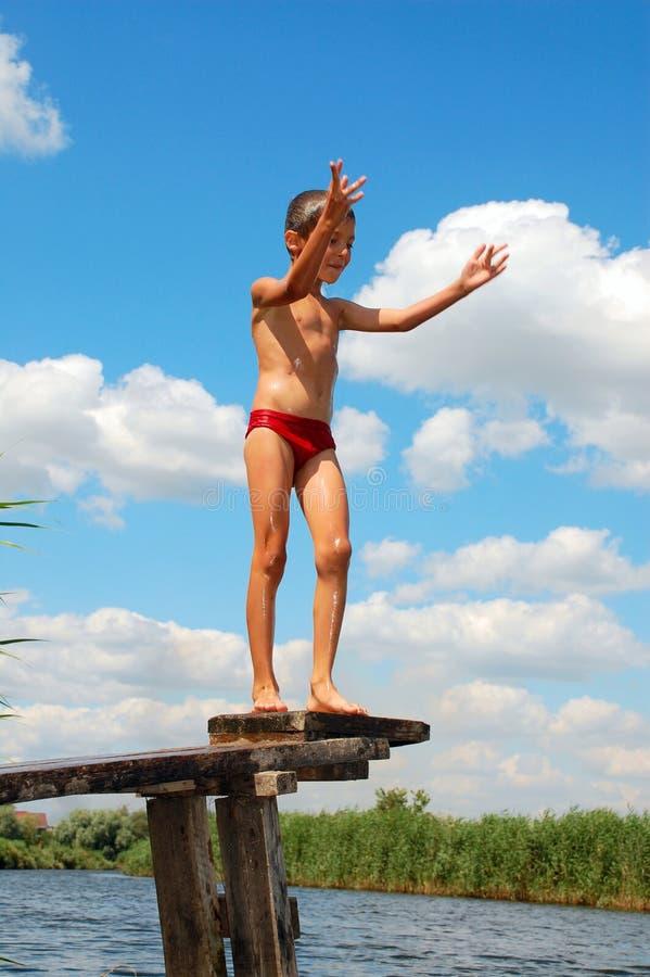 l'eau d'été de fleuve d'amusement photographie stock libre de droits