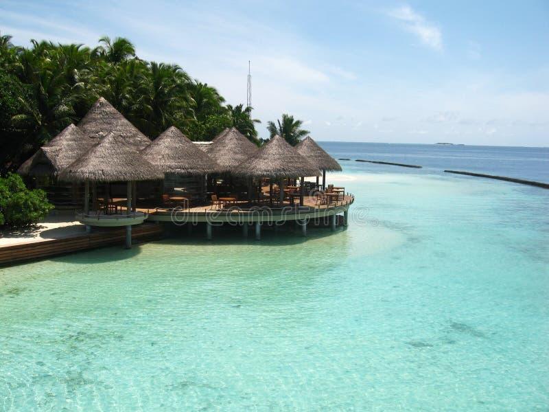 l'eau d'île de maisons de plage photo stock