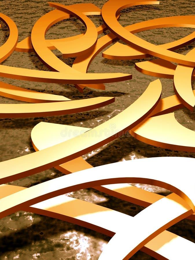 L'eau d'or illustration de vecteur