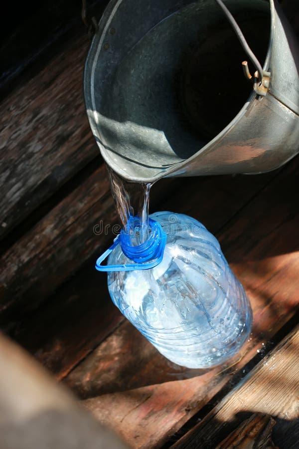 L'eau d'aspiration du puits photographie stock
