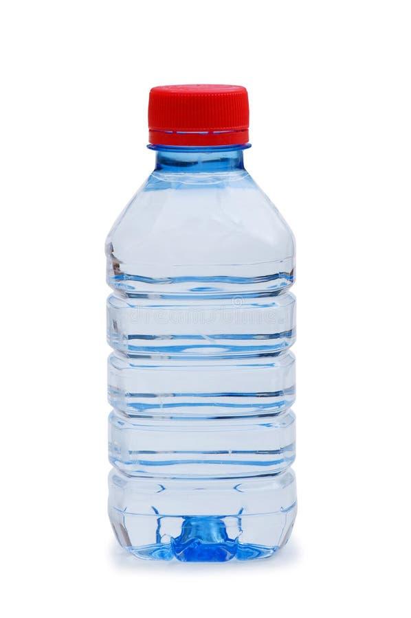 l'eau d'isolement par bouteille photographie stock