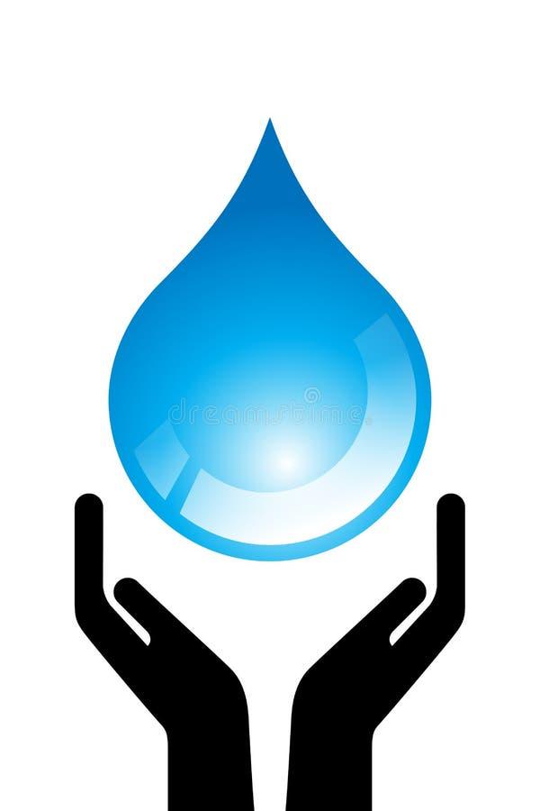 l'eau de baisse illustration de vecteur