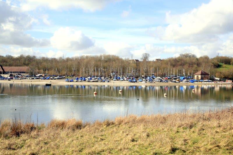 L'eau de Carsington, Derbyshire. photos libres de droits