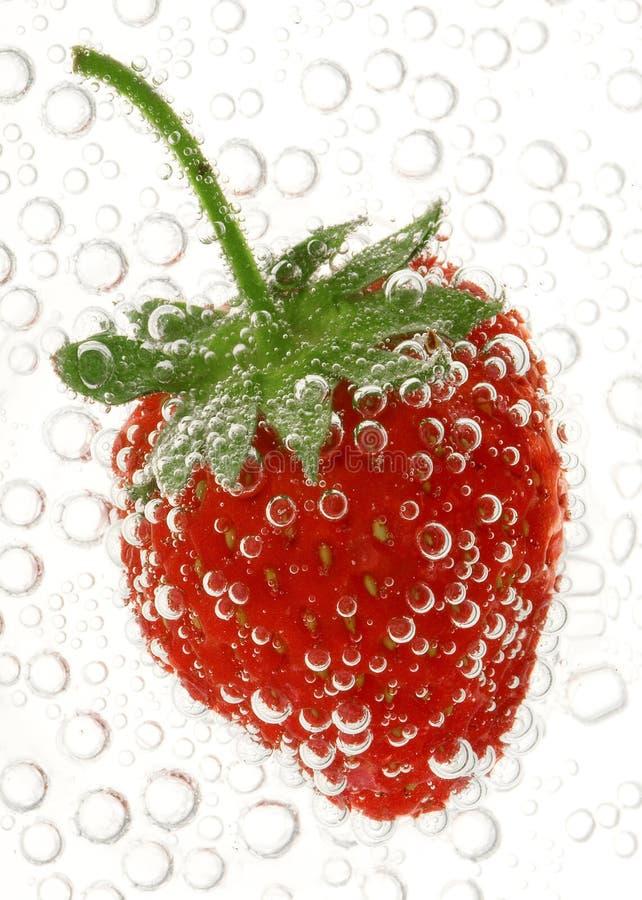 l'eau de fraise photographie stock libre de droits