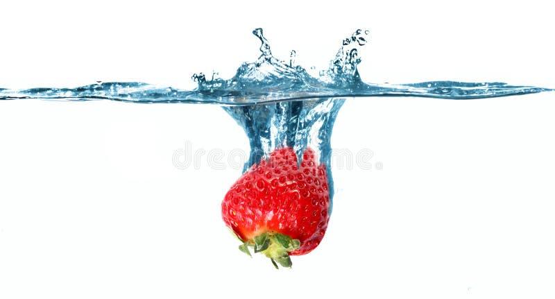 l'eau de fraise photographie stock