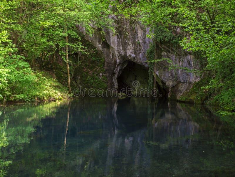 L'eau de la caverne images libres de droits