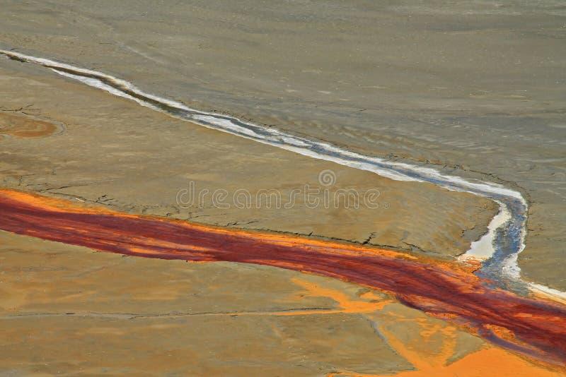 L'eau de mine souillée dans Rosia Montana images stock