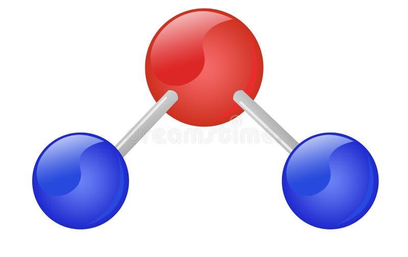 l'eau de molécule illustration libre de droits
