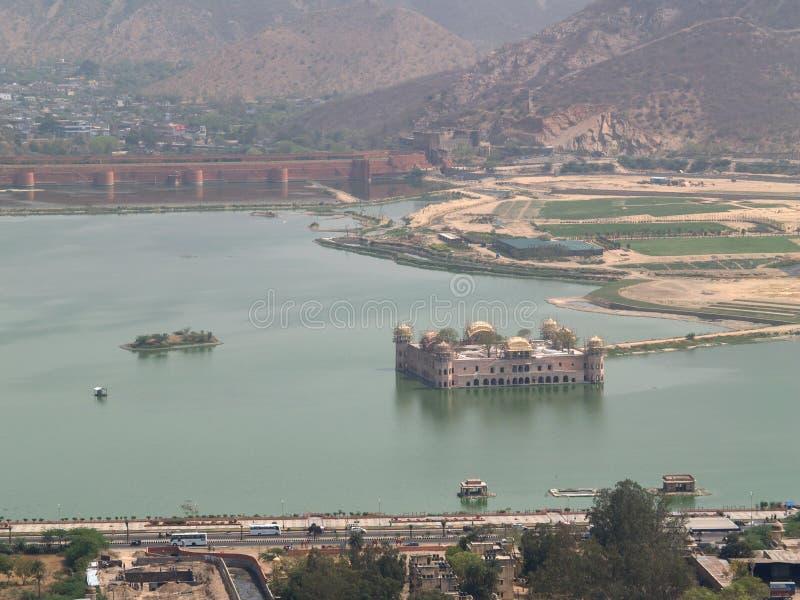 l'eau de palais de Jaipur images stock