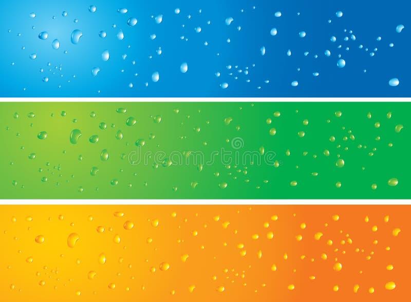 l'eau de papier peint de drapeaux illustration de vecteur