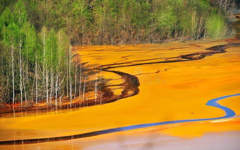 l'eau de pollution images stock