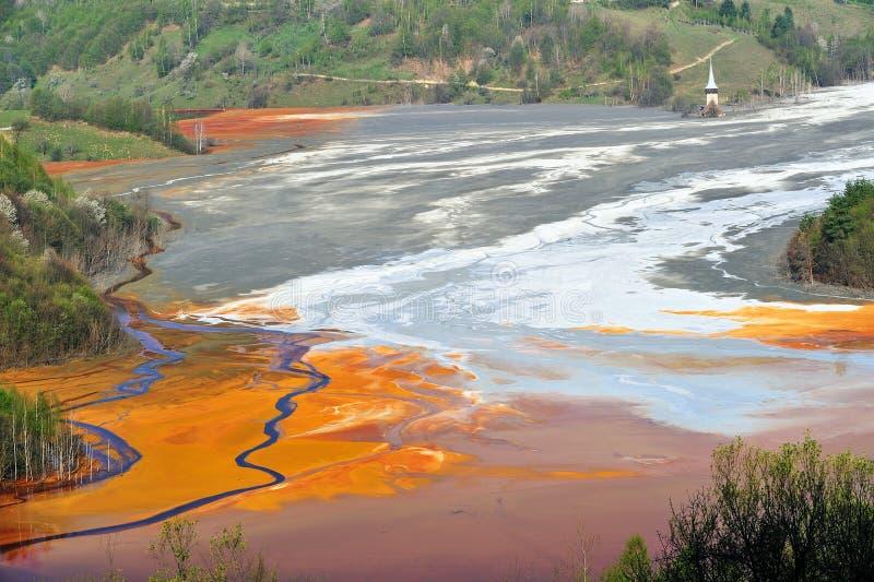 l'eau de pollution photographie stock libre de droits