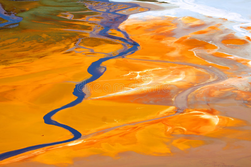 l'eau de pollution photographie stock