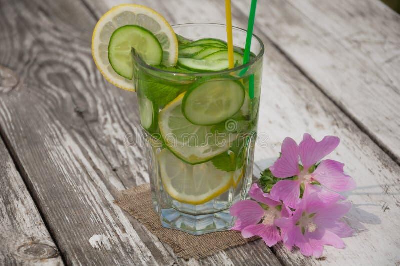 L'eau de Sassi dans un verre image stock