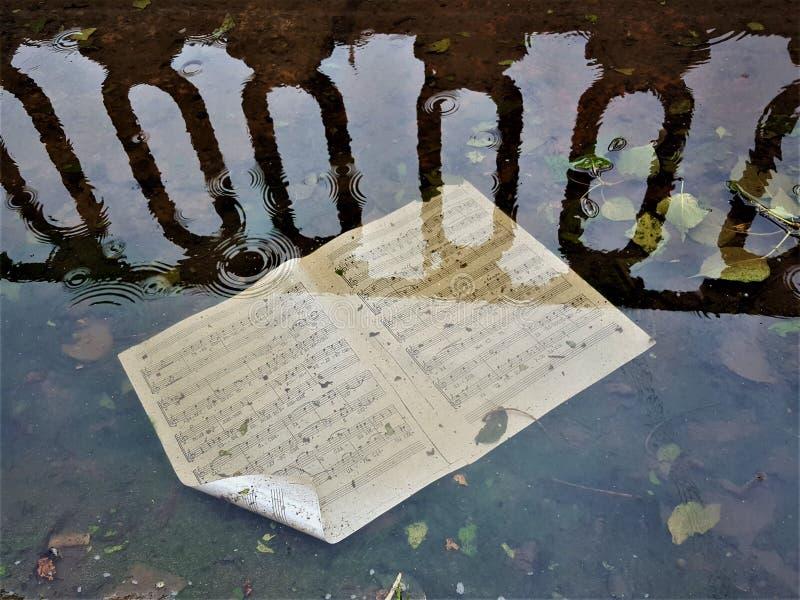 l'eau de tristesse de musique images libres de droits