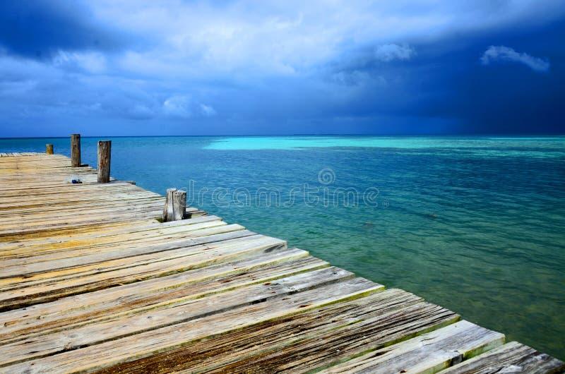 L'eau du sud Caye - petite ?le tropicale ? la barri?re de corail avec la plage de paradis - connu pendant des vacances de plong?e photos stock