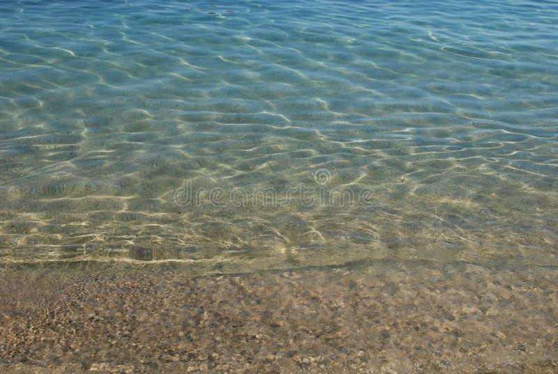 L'eau en cristal au coucher du soleil image stock